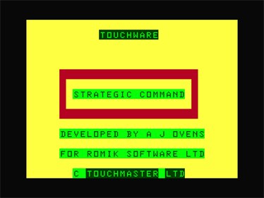 Strategic Command - Screenshot - Game Title