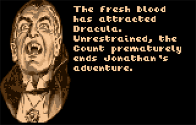 Dracula: The Undead - Screenshot - Game Over