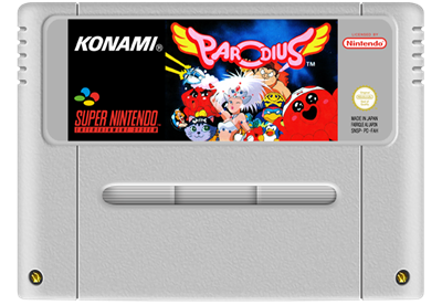 Parodius - Fanart - Cart - Front