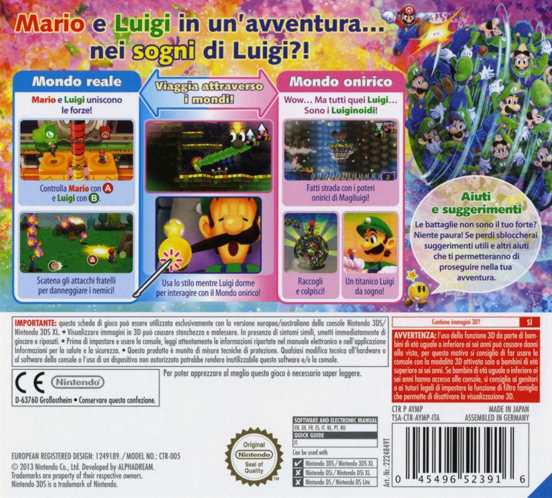 Mario Luigi Dream Team Details Launchbox Games Database