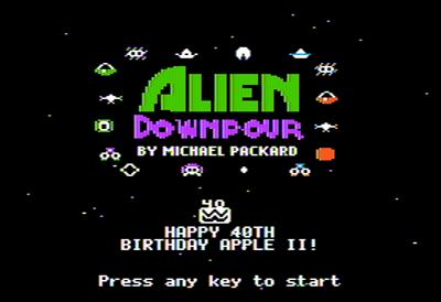 Alien Downpour - Screenshot - Game Title