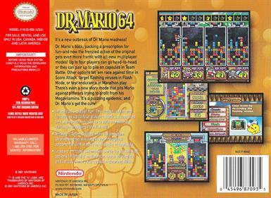 Dr. Mario 64 - Box - Back