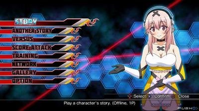 Nitroplus Blasterz: Heroines Infinite Duel - Screenshot - Game Select