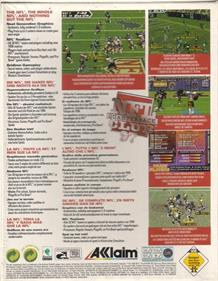 NFL Quarterback Club 97 - Box - Back