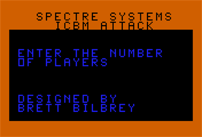 ICBM Attack - Screenshot - Game Select