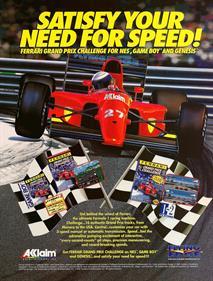 Ferrari Grand Prix Challenge - Advertisement Flyer - Front