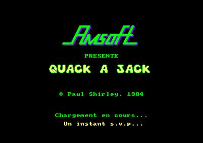 Quack a Jack  - Screenshot - Game Title