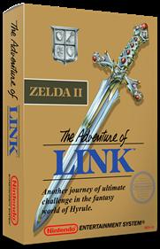 Zelda II: The Adventure of Link - Box - 3D