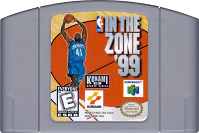 NBA in the Zone '99 - Cart - Front