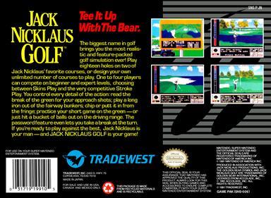 Jack Nicklaus Golf - Box - Back