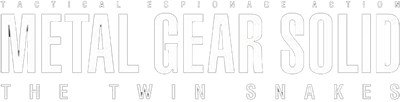 Metal Gear Solid: The Twin Snakes - Clear Logo