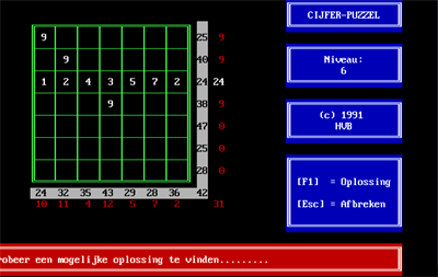 Cijfer-Puzzel - Screenshot - Gameplay