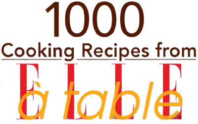 1000 Cooking Recipes from Elle a Table - Clear Logo