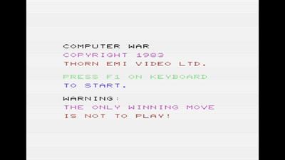 Computer War - Screenshot - Game Title