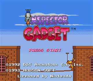 Inspector Gadget - Screenshot - Game Title