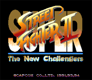 Super Street Fighter II: The New Challengers - Screenshot - Game Title