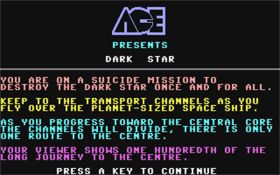 Dark Star (Mastertronic) - Screenshot - Game Title
