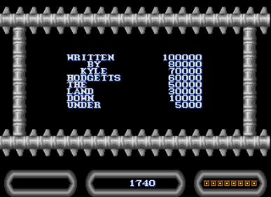 Caverns of Palle - Screenshot - High Scores