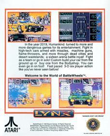 Battle Wheels - Box - Back