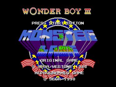 Wonder Boy III: Monster Lair - Screenshot - Game Title