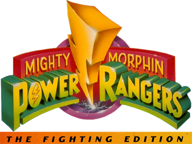 Mighty Morphin Power Rangers: The Fighting Edition - Clear Logo