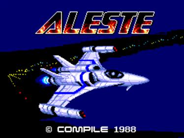 Aleste - Screenshot - Game Title