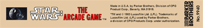Star Wars: The Arcade Game - Banner