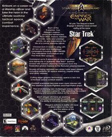 Star Trek: Starfleet Command II: Empires at War - Box - Back