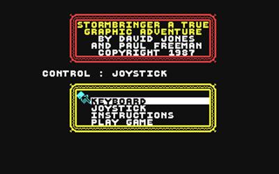 Stormbringer - Screenshot - Game Title
