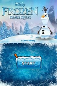 Disney Frozen: Olaf's Quest - Screenshot - Game Title