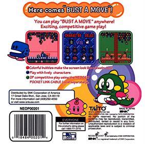 Bust-A-Move Pocket - Box - Back