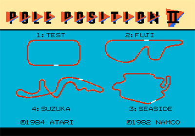Pole Position II - Screenshot - Game Title