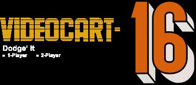 Videocart-16: Dodge-It - Clear Logo