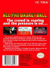 All-Pro Basketball - Box - Back
