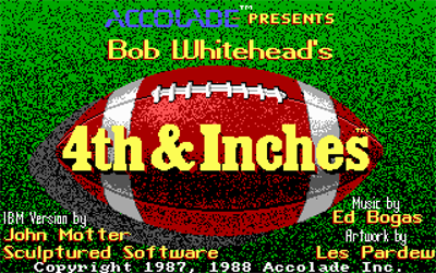 4th & Inches - Screenshot - Game Title
