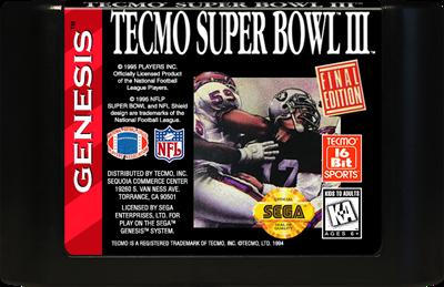 Tecmo Super Bowl III: Final Edition - Cart - Front