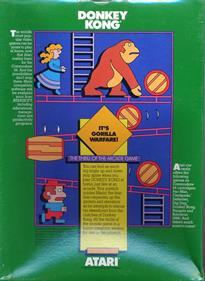 Donkey Kong (Atarisoft) - Box - Back