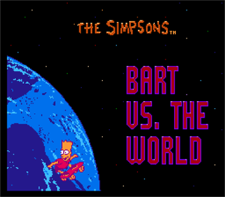The Simpsons: Bart vs. the World - Screenshot - Game Title
