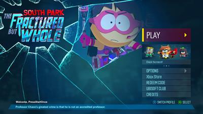 South Park: The Fractured But Whole - Screenshot - Game Title