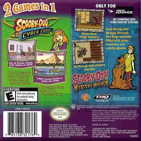 2 Games in 1 Double Pack: Scooby-Doo and the Cyber Chase + Scooby-Doo!: Mystery Mayhem - Box - Back