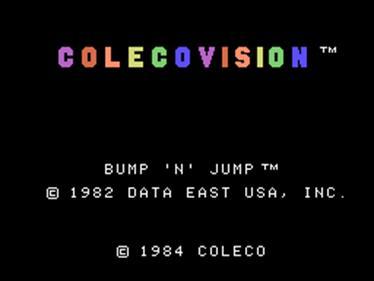 Bump 'n' Jump - Screenshot - Game Title