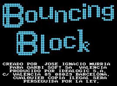 Bouncing Block - Screenshot - Game Title
