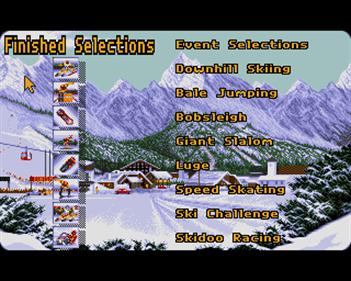 Winter Supersports 92  - Screenshot - Game Select