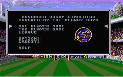 Advanced Rugby Simulator - Screenshot - Game Title