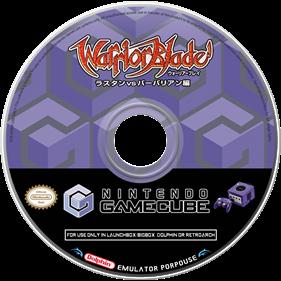 Warrior Blade: Rastan vs. Barbarian  - Fanart - Disc