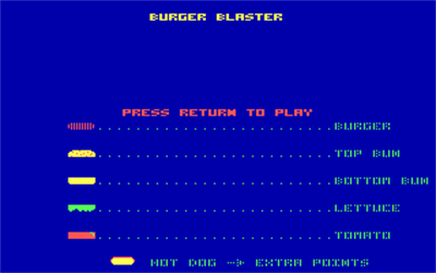 Burger Blaster - Screenshot - Game Title