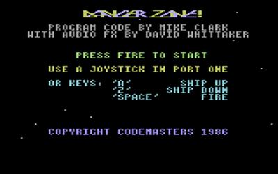 Danger Zone - Screenshot - Game Title