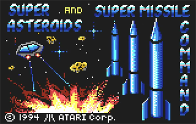 Super Asteroids & Missile Command - Screenshot - Game Title