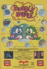 Bubble Bobble - Advertisement Flyer - Front