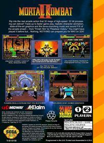 Mortal Kombat II - Box - Back - Reconstructed
